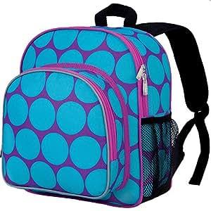 Wildkin Olive Kids Pack 'n Snack Backpack,One Size,Big Dots Aqua