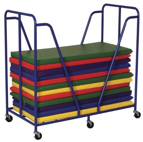 """Ecr4Kids Rest Mat Trolley, 51 X 27 X 49.25"""", Blue front-1009101"""