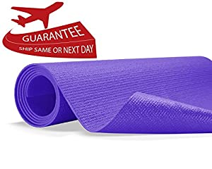 "Yes4All Premium PVC Yoga Exercise Mat (Exclusive Purple Yoga Mat - 68""x3mm)"