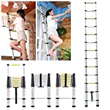 MASCARELLO® 3.8M Multi-purpose Aluminium Telescopic Ladder DIY Foldable Extendable Builders