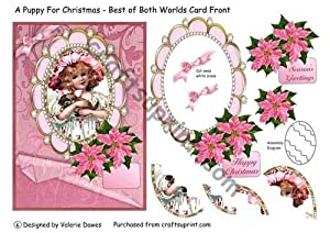 A Puppy For Christmas - Best of Both Worlds Card Front by Valerie Dawes