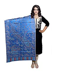 Indiweaves Fashion Women Blue Viscose Shawl