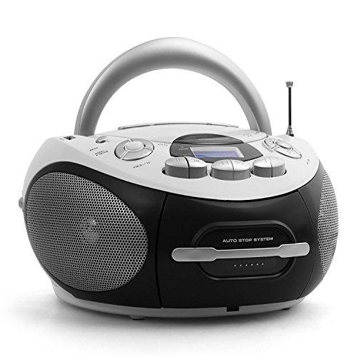 Audiola AHB 0388 Lettore CD/MP3 Portatile radio Registratore Stereo con Ingresso USB