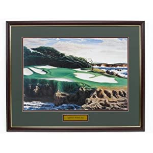 Golf Gifts and Gallery Cypress Point 15 Framed Art (24 X 30) by Golf Gifts & Gallery