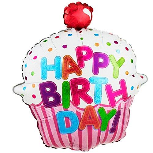 "Betallic 85587P Happy Birthday Cupcake Foil Pack, 31"""