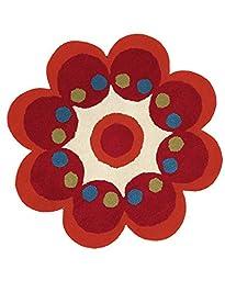Dynamic Rugs Flower 3X3 1707-300 Red
