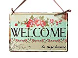 [WELCOME] Shop Door Home Wall Decor Decorative Sign Tin Welcome Sign (30*20cm)