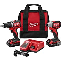 Milwaukee M18 18-Volt Lithium-Ion Cordless Compact Brushless Drill/Impact Combo Kit (2-Tool)