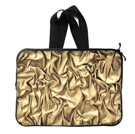 Fashion Shine Bling Golden 14 Inch Laptop Sleeve Bag With Hidden Handle For Laptop / Notebook / Ultrabook / Macbook front-615788