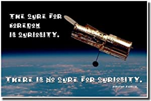 """The Cure for Boredom Is Curiosity. There Is No Cure for Curiosity"" Dorothy Parker - Classroom Motivational Poster"