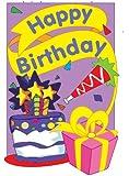 """Happy Birthday Flag Indoor/Outdoor 28"""" x 44"""""""