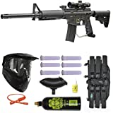 US Army Alpha Black Elite Paintball Marker Gun 3Skull Ultimate Mega Set