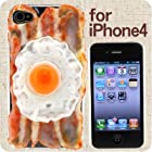 iPhone 4 専用★食品サンプル愛飯/あいふぁん カバー(ベーコンエッグ)