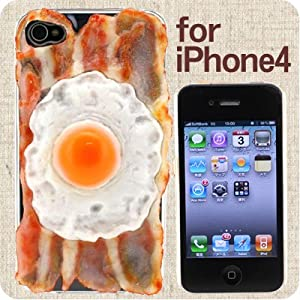 iMeshi Japanese Food iPhone 4 Cover Case (Sunny Sideup w/ Bacon)