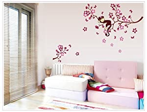 see Decals Butterfly Wisteria Flowers Vine Art Vinyl Wall Decal Stickers Home Decor from KS17
