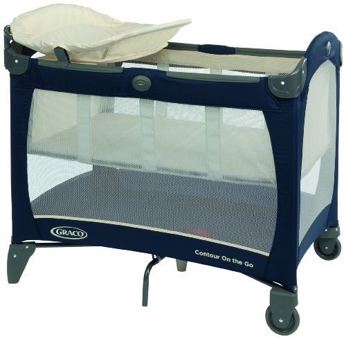 Graco Contour On The Go Travel Cot (Blue, 0 - 36 Months)