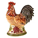 Certified International Tuscan Rooster 3D Cookie Jar, 11.75-Inch