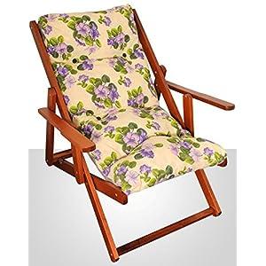 Poltrona sedia sdraio relax in legno di faggio noce regolabile in 3 posizioni   Valutazioni Valutazione