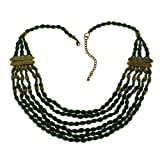 Green Day Bib Necklace For Women Statement Fashion Jewelry Handmade