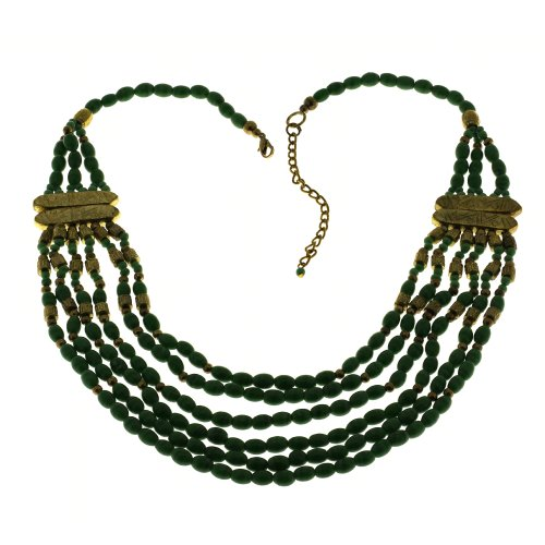 Party Fashion Necklace Green Costume Jewelry Handmade In India