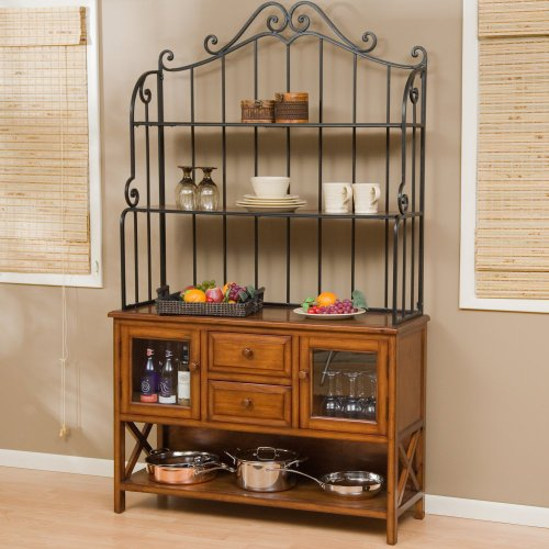 Belham Living Hampton Wood Bakers Rack - Heritage