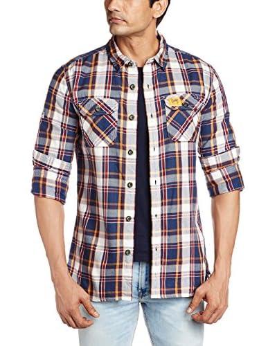 Superdry Camicia Uomo Lumberjack Twill [Rosso/Blu]