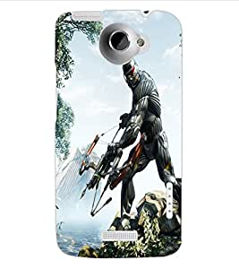 ColourCraft The Warrior Design Back Case Cover for HTC ONE X