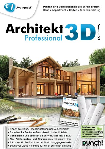 architekt 3d x7 professional. Black Bedroom Furniture Sets. Home Design Ideas