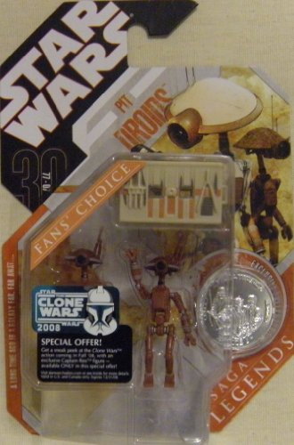 "Star Wars 30th Anniv. Brown ""Pit Droids"" Saga Legends, Fans' Choice"