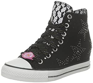 DADDY'S MONEY Women's Gimme Star Studded (Blk 7.5 M)