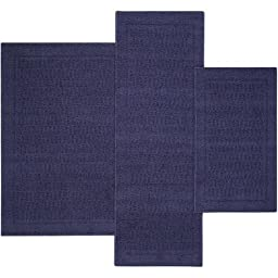 Mainstays Dylan Nylon Accent Rugs, Set of 3, Navy