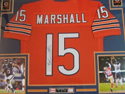 Brandon Marshall Autographed Framed Chicago Bears Signed Jersey JSA Authenticated