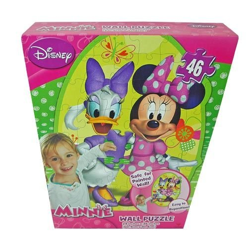 Disney Minnie Mouse and Daisy 46 Piece Repositionable Wall Puzzle - Kids Room