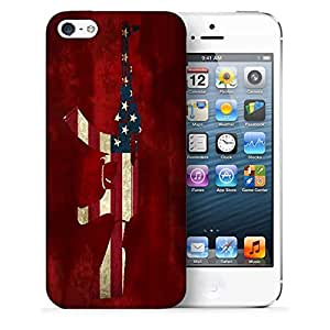 Snoogg Us Ak47 Designer Protective Back Case Cover For IPHONE 5