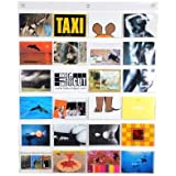 HAB & GUT (DV009) Karten- und Bildergalerie PVC Taschenvorhang 24 Taschen DAS ORIGINAL