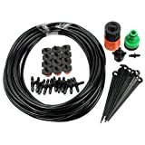 Estone 10m Garden Plants Irrigation Patio Misting Cooling System 12 Micro Dripper Kit