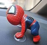 【選べる4色】 スパイダーマン フィギュア 吸盤付き 単品 4色セット 車や部屋の好きなところに 赤 青 黒 白 (スパイダーマン 赤)