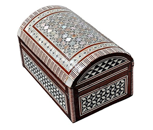 Egyptian Mosaic Jewelry Trinket Box Mother of Pearl Bx11