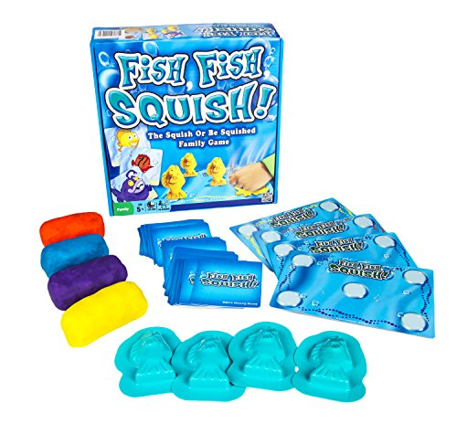 Fish, Fish, Squish! - The Squish or Be Squished Family Action and Memory Game for Parents and Kids - 2 to 4 Players - Ages 5 and Up