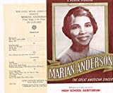 MARIAN ANDERSON autographed 1941 7x9 photo flyer w/ extra prog