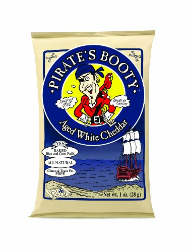 Pirate's Booty, Aged White Cheddar, 1-Ounce Bags (Pack of 24)