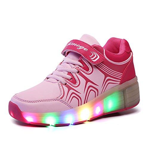 Hightech-Hombres-y-Mujeres-los-Polea-Zapatos-con-ruedas-Zapatos-de-luz-LED-de-los-zapatos-luminosos-coloridos