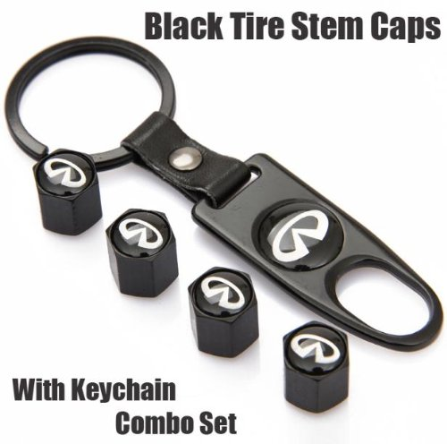 infiniti-black-tire-stem-valve-caps-and-black-keychain-combo-set