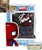 Stan Lee Autographed/Signed Funko Pop! Marvel Spider-Man #03 Bobblehead Toy