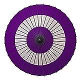 和傘 紙舞日傘 尺4 蛇の目柄 紫 継柄