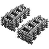 8 x Rails courbes Lego City Courbé