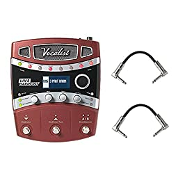 Digitech VLHM Vocal Effects Processor Pedal With A Pair of Patch Cables