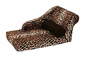 Best Friends by Sheri Chaise Lounge Zoo Leopard Brown, 27x14x13-Inch