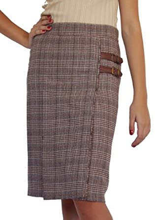 Office Work Lined Cashmere Warm Hot Winter Wool Skirt Brown Size UK 8 10 12 14 16 18 20 (8)