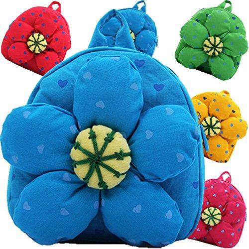 (ハニーブロッサム) HONEY BLOSSOM 可愛い もこもこ お花 リュック サック 布製 赤ちゃん おでかけ バック パック おしゃれ 目立つ カラー で 迷子 防止 出産祝い プレゼント m041 blue